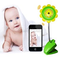 Wholesale Hot Sale WIFI IP Camera Wireless Video Baby Monitors Sunflower Design For Smartphone with Night Vision Camera Video