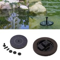 Wholesale 7V Floating Water Pump Solar Panel Garden Plants Watering Power Fountain PoolHot New Arrival