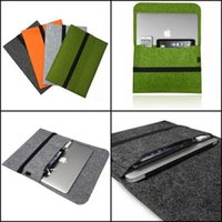 Wholesale Felt Sleeve Laptop Notebook Carry Case Cover Bag For Apple Macbook Pro Air quot nich For Macbook quot quot For Macbook quot