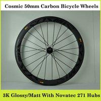 carbon bicycle wheel set - Co smic Road Racing Bicycle Wheels Full Carbon mm k Weave High Quality Bike Parts Wheels Carbon Black Color Bicycle Wheel Set Hubs