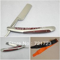 Wholesale Man s Stainless steel handle Straight Razor a Set Razor Whet Knife Cloth