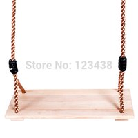 Wholesale Birch Wooden Baby Kids Swing for Children Plate Toys Outdoor Fun Sports Improve Health