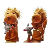 talking toy - Plush Puppets The Lion and The Mouse Finger Puppets Kids Talk Prop Preschool Kindergarten Velour Animal Finger Puppets Kids Toy