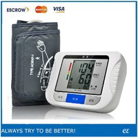 Wholesale 1PCS Digital LCD Wrist Arm Blood Pressure Monitor Heart Beat Meter Machine for your health YKS