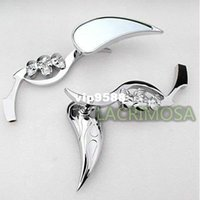 glide - CHROME TEARDROP SKULL REARVIEW MIRRORS FOR HARLEY SOFTAIL SPORSTER DYNA GLIDE XL