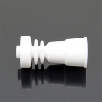Wholesale Domeless Ceramic Nail Fits to Both mm mm with female Glass jonit vs GR2 Titanium Nail