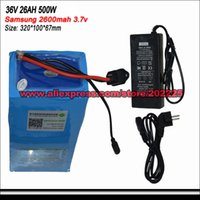 Wholesale E Bike Battery W V AH samsung Electric Bike Rechargeable Battery Pack v A Charger BMS Fedex