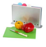 Wholesale chopping board Multifunctional plastic kitchen gadget classification board set Removable fruit Cutting Mats