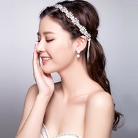 Cheap Headbands wedding jewelry set Best Silk Flower 100% brand new bridal flower headband