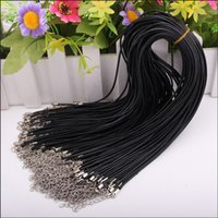Wholesale 45 cm Necklace Leather Rope String Necklace Pendant String Wax rope leather cord MM Thick