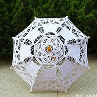 Wholesale Hot Sale Sun Parasols for Wedding Party Handmade Brides Paper Lace Parasols Hand Holding Parasols for Wedding Shoots Parasols