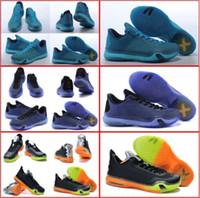 pvc snake leather - With shoes Box New Model Hot Sale KB X Blackout Green Snake Elite Low Children Kids Men Basketball Sport Shoes