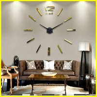 home decal stickers - Fashion Home Decor Stickers Wall Clock For Living Room wall Decals Decoration DIY personalized X120CM Big size stereo digital clocks