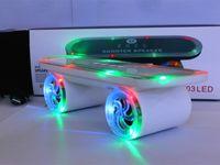 best mobile card reader - New arrival Best Skateboard Bluetooth Wireless Speaker Mobile Audio Mini Portable Speakers with LED Light for Christmas Gift Free DHL