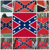 Wholesale In stock The Truth About the Confederate Battle Flags Two Sides Printed Flag Confederate Rebel Civil War Flag National Polyester Flags