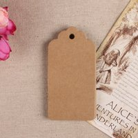 Wholesale 500pcs X4 cm wholesales stock craft blank kraft paper card tag for commodity or gift