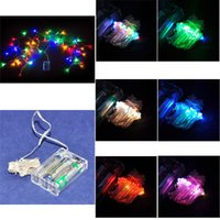 Wholesale M Leds Battery Powered Silver Copper Wire LED String Lights Fairy Chistmas Lights Wedding Decoration Lighting
