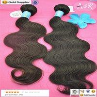 Wholesale High Quality Bundles Peruvian Virgin Human Hair Weave Natural Color Body Wave Hair Extensions
