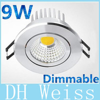 Wholesale 20pcs High Quality W Led COB Downlights Degree Warm Natural Cool White Dimmable Led Ceiling Saving Lights lamp With Driver