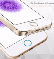 Wholesale New Arrival Hot Home Key Portector Ring Sticker Touch ID Button Aluminium Metal Round For iPhone s Plus s iPad
