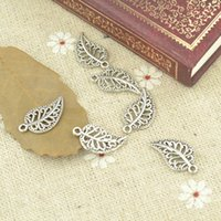 Wholesale ashion Jewelry Charms metal antique alloy charm tibetan silver tree leaf pendant fit jewelry making Z42714 free ship