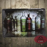 absolut poster - ABSOLUT Vodka Metal Poster Bar Party Decoration Vintage Sticker Wall Tin Sign CM Mix Items