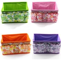 Wholesale Bling Recommend Top Seller Flowers Woven Cosmetic Storage Box Multicolor Gift For Family cm TY185
