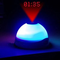 Wholesale Color Change Projection Clock Time Projector Digital LED Clock Night Light H5