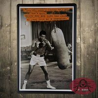 ali tin - Muhammad ali Retro Metal Art Poster Vintage Antique Metal Tin Signs Decor home club