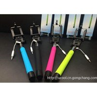 Wholesale Favorable Selfie Monopod Z07 plus Wired selfie stick Extendable Monopod Tripod With Shutter Release IOS android for S4 S5 iphone