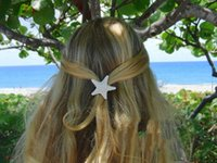 Wholesale Best Price beach hair Fashion personality of pure natural starfish beach holiday edge clip hair accessories hairpin