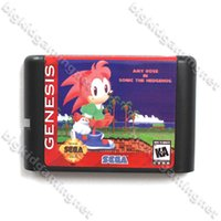 amy game - Amy Rose In Soinc Game Cartridge bit MD Game Card For Sega Genesis