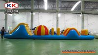 airtight games - Hot sale airtight water Inflatable bouncer obstacle games Big floating obstacles race with air pump