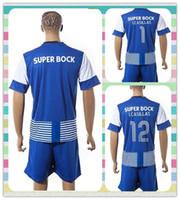 Wholesale New Product Uniforms Kit Porto Danilo Juan Brahimi Tello CASILLAS Blue White Stripe Soccer Jersey Full Shirt