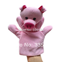 Cheap Wholesale-Free Shipping Baby Plush Toy  Finger Puppets Tell Story Props(Pig) Animal Doll  Kids Toys  Children Gift