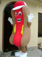 Wholesale 2016 Adult Mascot HOT DOG HOTDOG MASCOT COSTUME Adult Size Fancy Dress