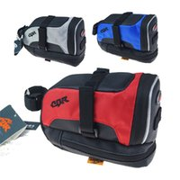 bicycle saddle bag - 2015 CBR bike bicycle Back saddle bag rear seat fram bags red blue grey color quick release Tail Pouch cycling accessories