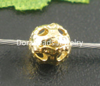 Wholesale Gold Plated Filigree Ball Spacers Beads mm Dia B03946