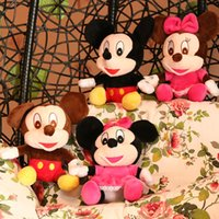 Wholesale Plush Toys Mickey Mouse Mickey And Minnie Cartoon Couple Dolls CM Children s Toys Children s Day Gift