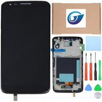 Wholesale For LG G2 D800 D801 D802 LCD Display Touch Screen with Digitizer and Bezel frame Full Assembly free dhl ship