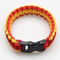 Wholesale Bracelelets Cuff Lovers Adjustable Size Fashion Shackle Buckle Handcraft Link Survival Parachute Cord Bracelet Outdoor Jewelry CC