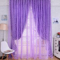 Wholesale New Rose Tulle Window Screens Door Balcony Curtain Panel Sheer Scarfs Curtain MTY3