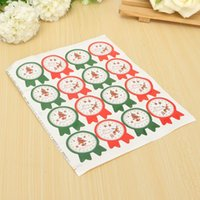 Wholesale 5Pc sheet Self Adhesive Christmas Badge Paper Labels Cookie Cake Decor Baking Seal Stickers Food Bag Package Gift Sticker