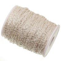 Wholesale 5m Silver Plated Cable Chain in Bulk for Necklace Jewelry Making DIY x1 mm AE00001