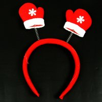 Wholesale beautiful Christmas Decoration Santa Claus Decoration Gifts Supplies Headband Hair Accessory Hat Christmas Party Adult Child hair Clasp