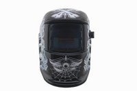 welding helmet - Black skull Solar auto darkening electric welding mask welding helmet welder cap with polish grindind for welding machine and plasma cutting