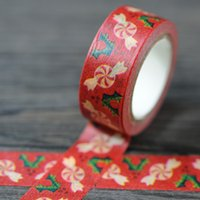 Wholesale Merry Christmas candy and tree rolls cm m paper self adhesive tape