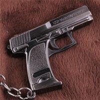 auto key box - Cross Fire CF Cute USP Compact Auto Hand Gun Weapon Model Metal Pendant Key Ring Keychain In Box