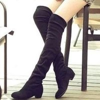 Wholesale Botas Femininas Knee High Boots Women New Winter Summer Spring Super Long Flock Motorcycle Snow Boot