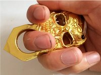 Wholesale new GILDED THICK Boxing STEEL BRASS KNUCKLE DUSTER boxing gloves plating silver mma shorts